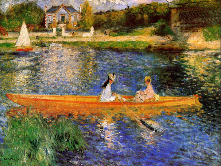 """The Seine at Asnieres"" by Pierre Auguste-Renoir"